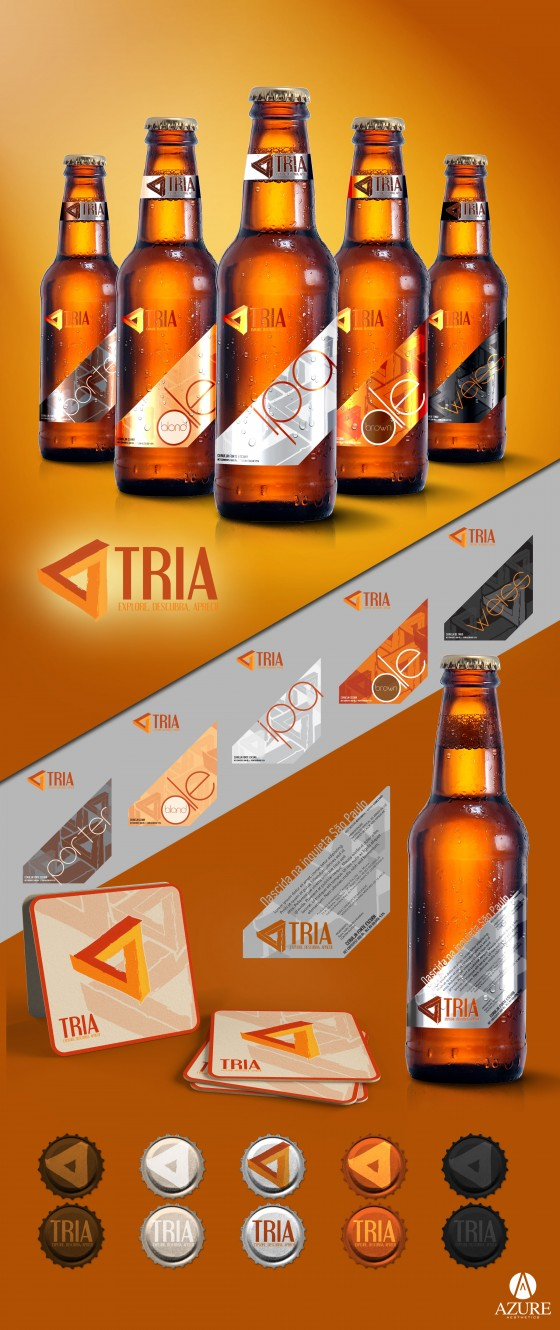 Azure Tria Beer Labels